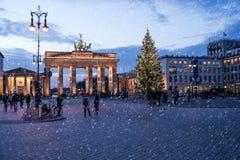 Brandenburger tor in winter Stock Photo