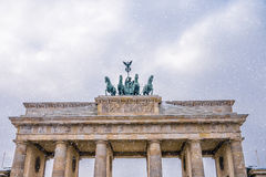 Brandenburger tor in winter Royalty Free Stock Photography