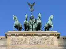 Brandenburgii bramy quadriga berlin Fotografia Royalty Free