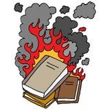 brandend boekenbeeldverhaal Royalty-vrije Stock Fotografie