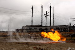 Brandend gas Stock Fotografie