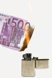 Brandend geld 2 Royalty-vrije Stock Afbeelding