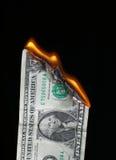 Brandend geld   Royalty-vrije Stock Fotografie