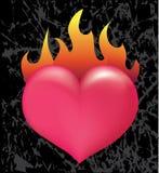 Brandend hart Stock Foto