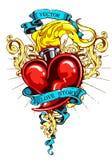 Brandend hart Stock Afbeelding