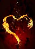 Brandend hart Stock Afbeeldingen