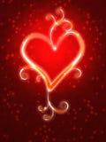 Brandend hart met fonkelingen Royalty-vrije Stock Afbeelding