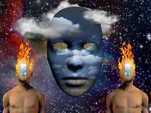 Brandend hoofd Stock Afbeelding