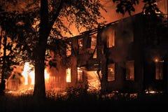 Brandend huis Royalty-vrije Stock Fotografie