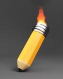 Brandend potlood Stock Afbeeldingen