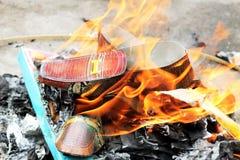 Brandend schoenenspook voor Chinees Spook Royalty-vrije Stock Foto's