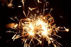 Brandend sterretje in vorm van een boom Stock Fotografie
