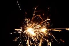 Brandend sterretje in vorm van een boom Royalty-vrije Stock Fotografie