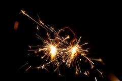 Brandend sterretje in vorm van een boom Stock Afbeeldingen