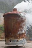 Brandend tuinhuisvuil/vuilnis Royalty-vrije Stock Afbeeldingen