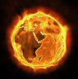 Brandende Aarde Royalty-vrije Stock Afbeeldingen