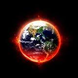 Brandende Aarde Stock Afbeeldingen