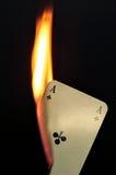 Brandende Aas van Kruisen Stock Fotografie