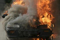 Brandende auto Royalty-vrije Stock Afbeelding