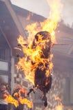 Brandende beeltenissen Stock Foto's
