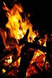 Brandende brand Stock Foto
