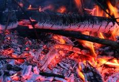 Brandende brand Stock Foto's