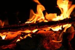 Brandende brand Royalty-vrije Stock Afbeeldingen