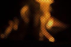 Brandende brand in de open haard royalty-vrije stock afbeelding