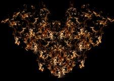 Brandende brandvlam in vogelvorm royalty-vrije stock foto