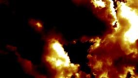 Brandende Brandwolken zoals Duivelshel stock footage