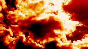 Brandende Brandwolken zoals Duivelshel stock videobeelden