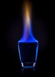 Brandende drank Royalty-vrije Stock Foto's