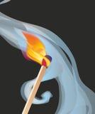 Brandende gelijke vector illustratie