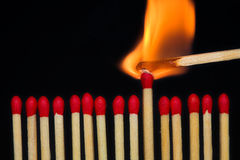 Brandende gelijke Royalty-vrije Stock Foto