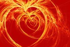Brandende harten Stock Foto