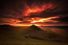 Brandende hemel Stock Afbeeldingen