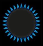 Brandende het fornuis vectorillustratie van de gasring Stock Afbeeldingen