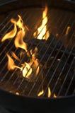 Brandende Houtskool Royalty-vrije Stock Foto's