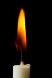 Brandende kaars Stock Afbeelding
