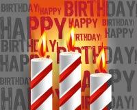 Brandende kaars en schaduw Royalty-vrije Stock Fotografie