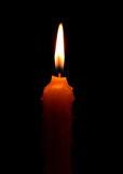 brandende kaars op donkere backgroud Royalty-vrije Stock Foto's