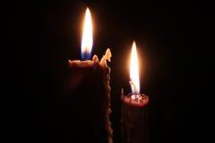 Brandende Kaarsen Stock Afbeelding