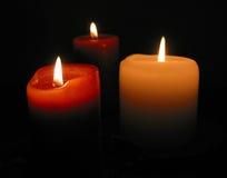 Brandende kaarsen Royalty-vrije Stock Afbeeldingen