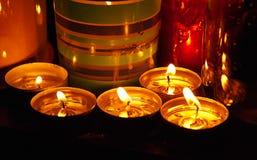 Brandende Kaarsen Stock Afbeeldingen