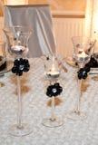 Brandende kaarsen in glas Royalty-vrije Stock Foto's