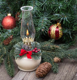 Brandende Kerstmislamp Royalty-vrije Stock Afbeeldingen