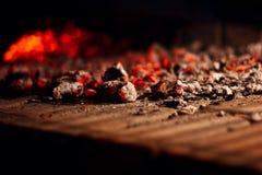 Brandende koolstof Stock Afbeeldingen