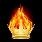 Brandende kroon Royalty-vrije Stock Foto's