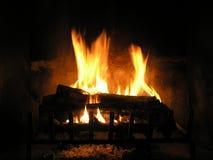 Brandende Logboeken Stock Foto
