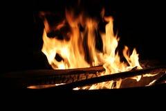 Brandende Login Hete Brand en Vlammen Stock Afbeeldingen